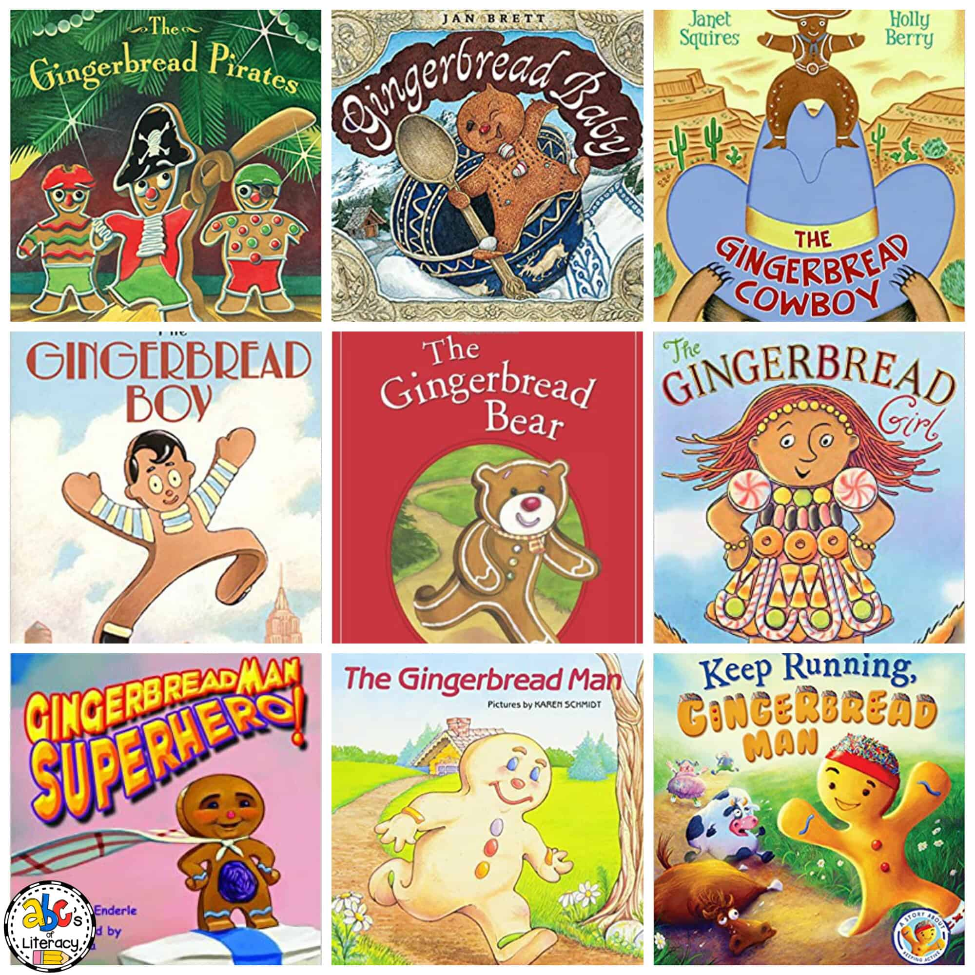 Gingerbread Man Book List for Kids