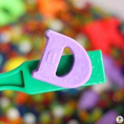 Magnetic Letter Sensory Bin For Learning The Alphabet