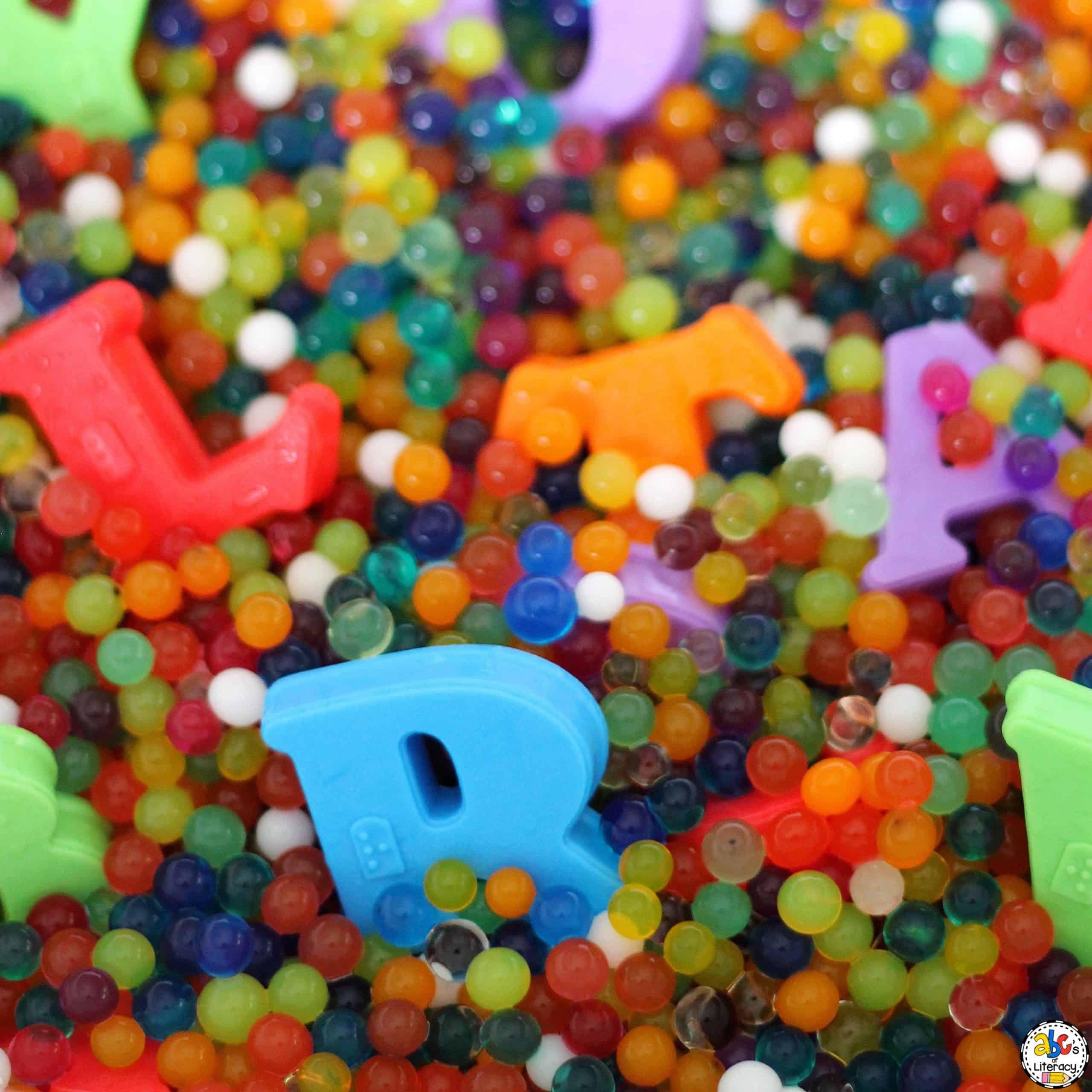 Magnetic Letter Sensory Bin