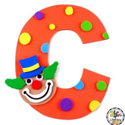 Letter C Clown Craft