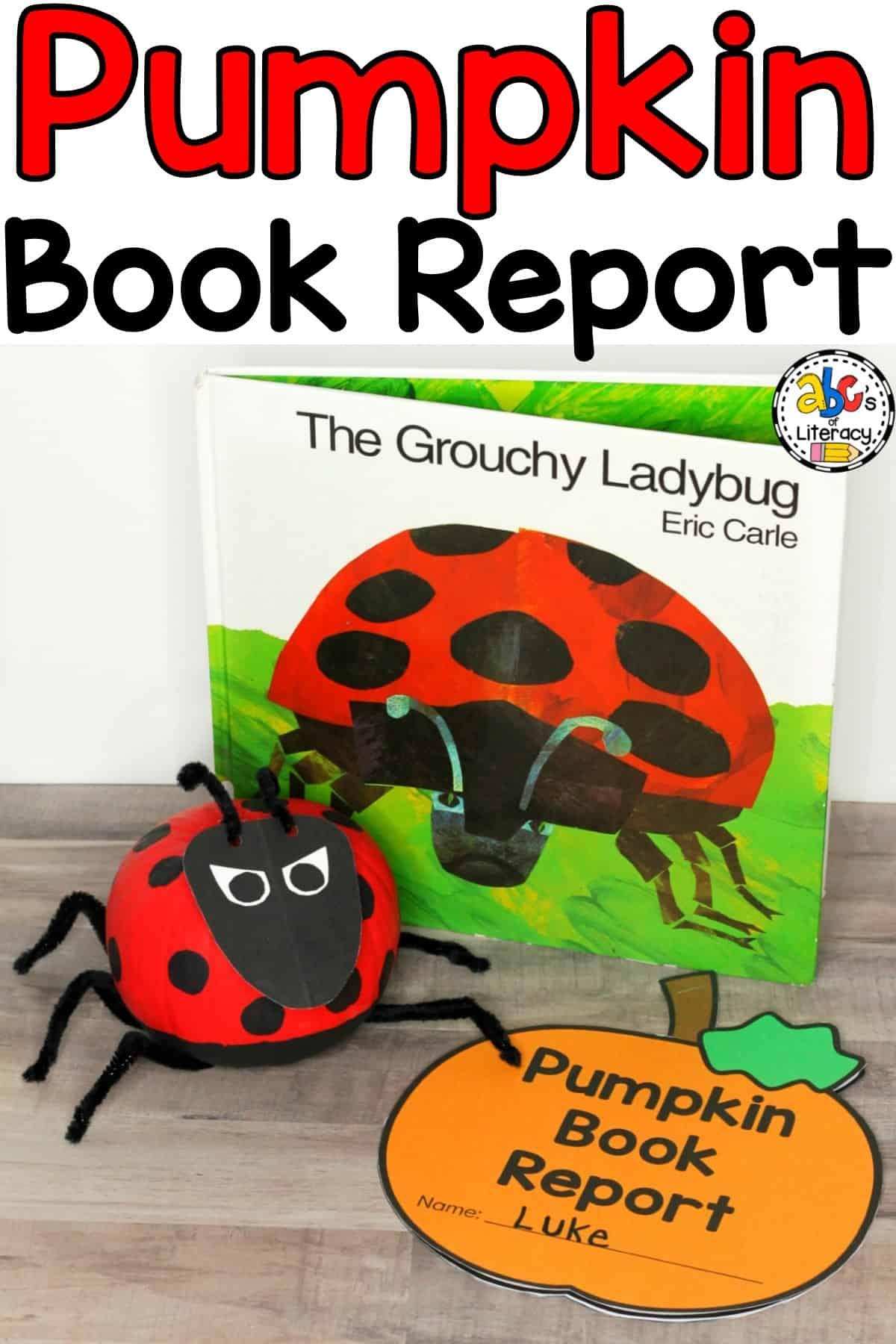 Pumpkin Book Report, Pumpkin Book Report Idea, Pumpkin Book Character Report, No Carve Pumpkin, Book Inspired Pumpkin