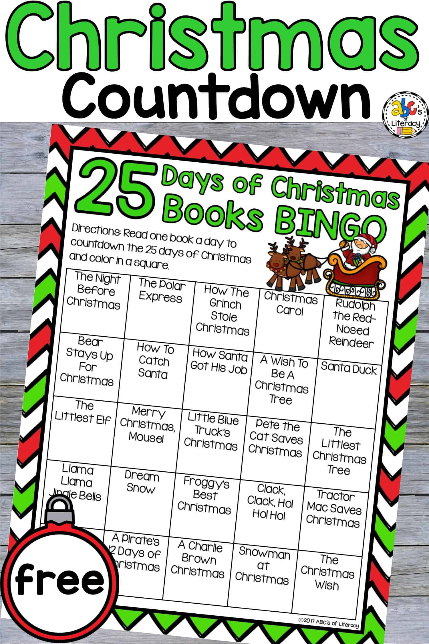 Christmas Books Bingo, Christmas Bingo, Christmas Activity for Kids, Countdown to Christmas, Countdown to Christmas Books Bingo, 25 Days of Christmas Books Bingo