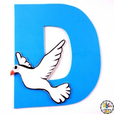 Letter D Dove Craft
