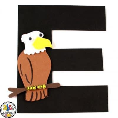 Letter E Eagle Craft