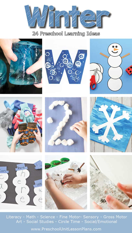 Winter Preschool Lesson Plans, Preschool Lesson Plans, Preschool Unit Lesson Plans, Winter Theme, Winter Theme Preschool Lesson Plans