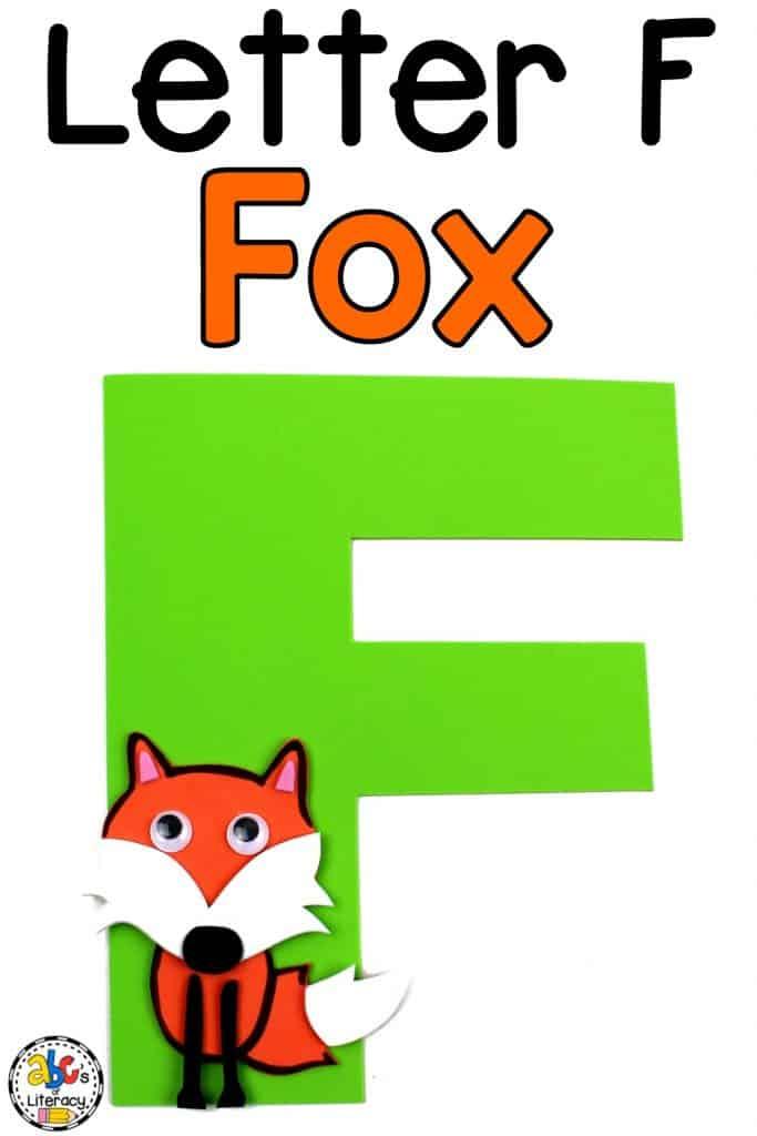 letter f fox craft, letter craft, fox craft, letter of the week, letter of the week craft, alphabet craft, alphabet letter craft