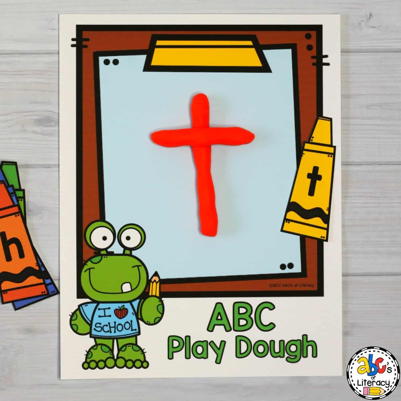 Clipboard ABC Play Dough Mat