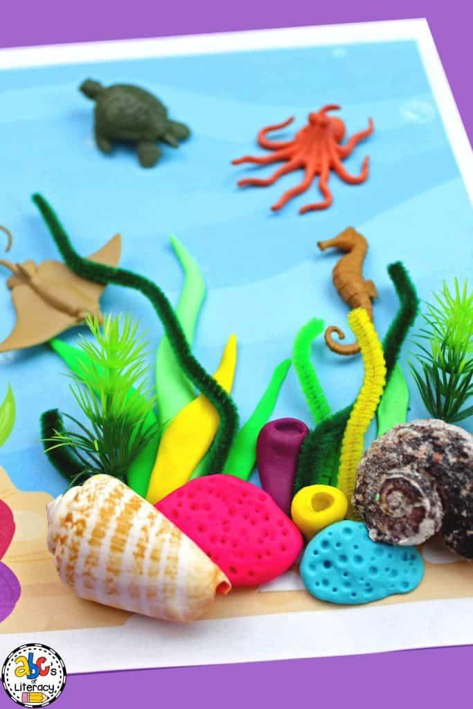 Ocean Play Dough Mat, Ocean Unit, Ocean Theme, Play Dough Mat