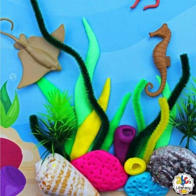 Ocean Play Dough Mat: Creative Play Idea