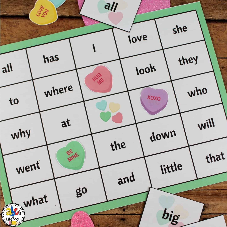 Free Printable Valentine S Day Sight Word Bingo Game