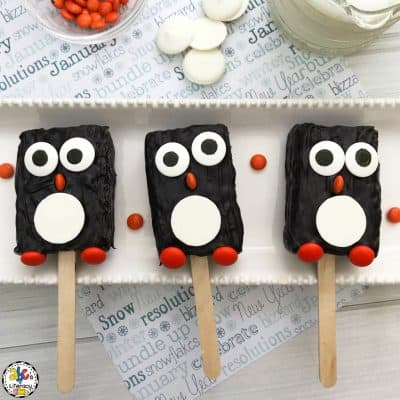 Penguin Rice Krispie Treats