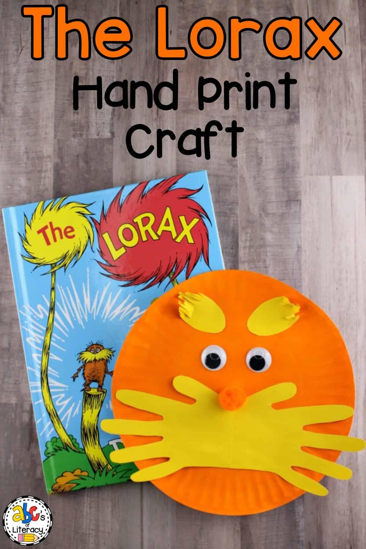 The Lorax Hand Print Craft