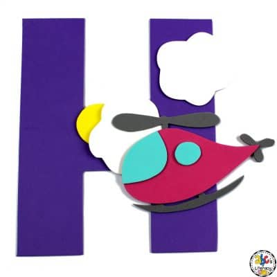 Letter H Helicopter Craft