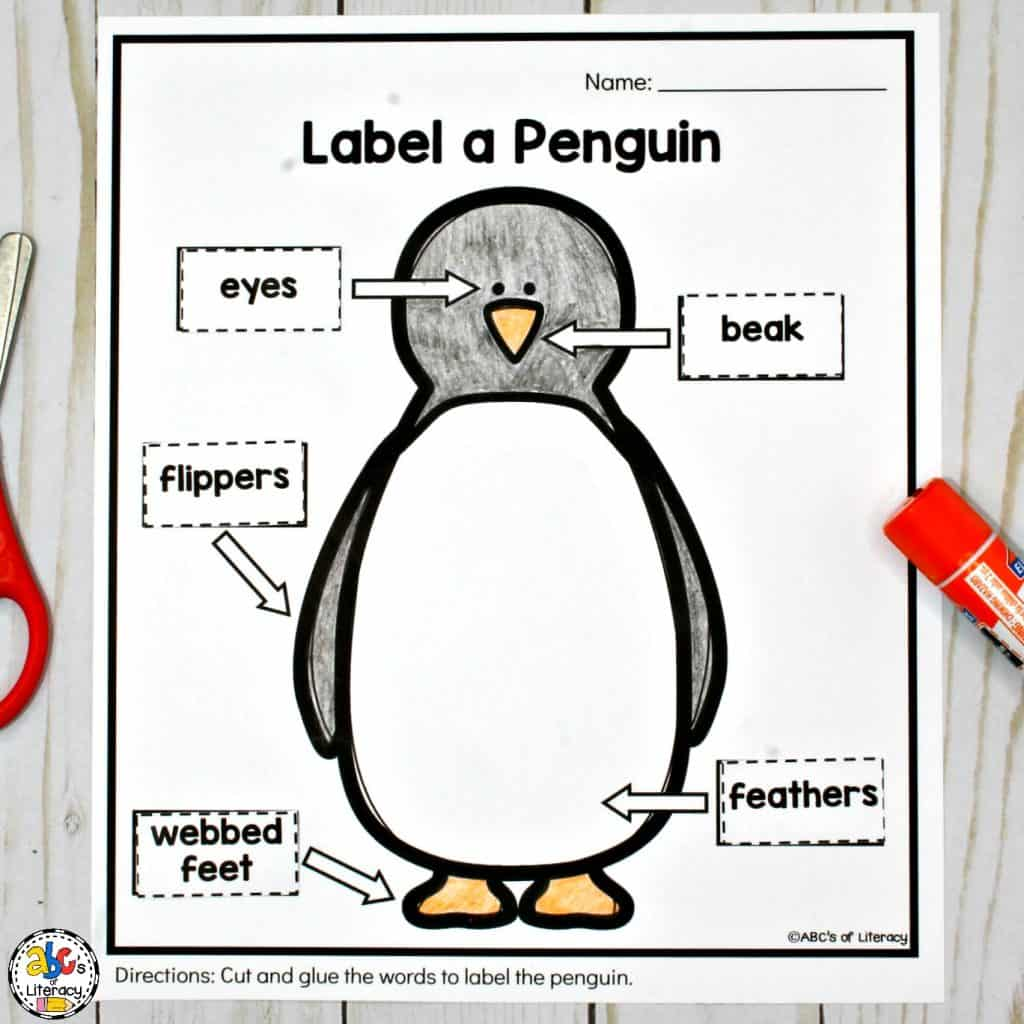 Penguin Activities For A Winter Animal Unit Of Mini Lesson