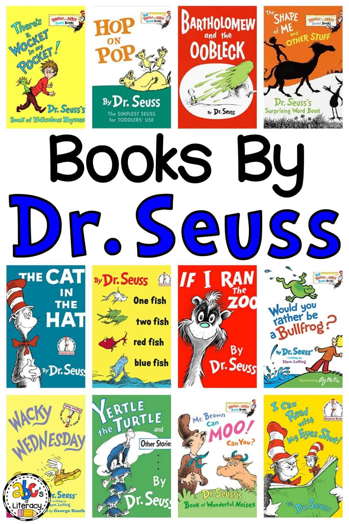 Dr. Seuss Book List for Kids