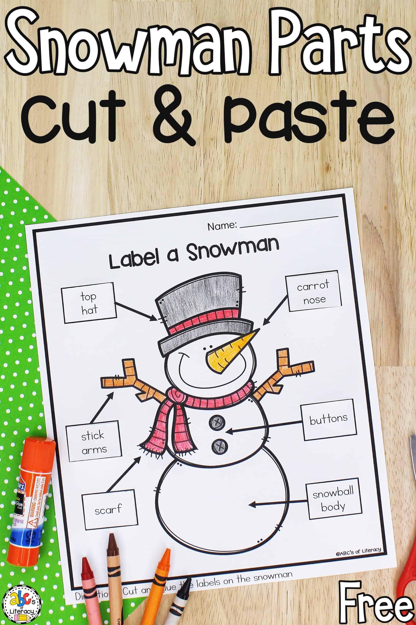 Winter Preschool Worksheet