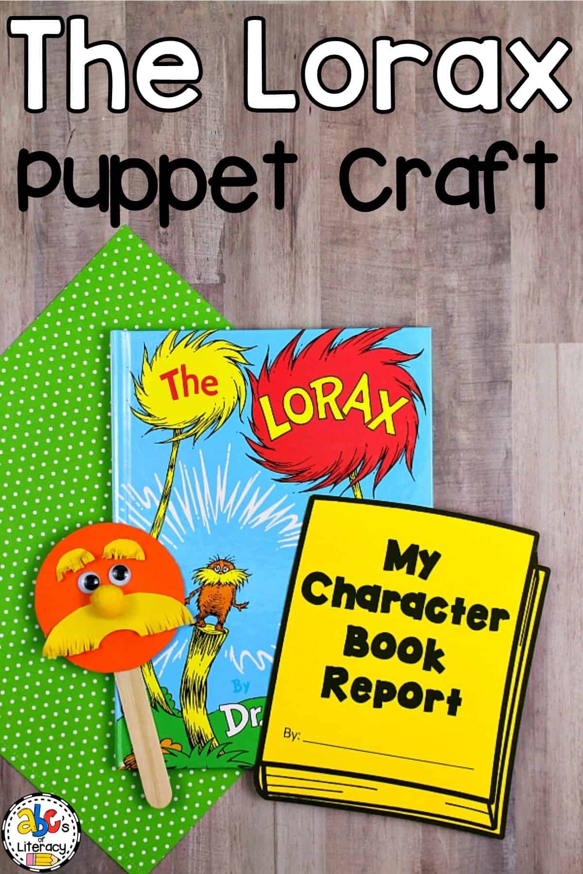 The Lorax Inspired Puppet Craft