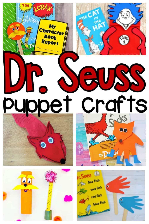 Dr. Seuss Puppet Crafts