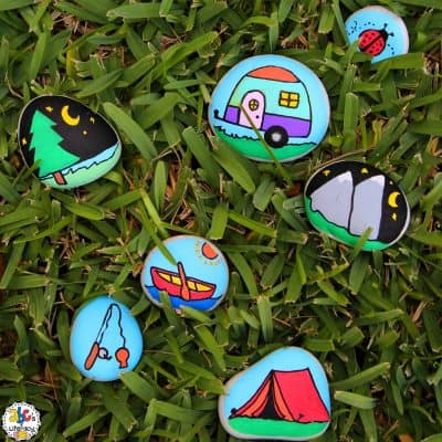 Camping Story Stones