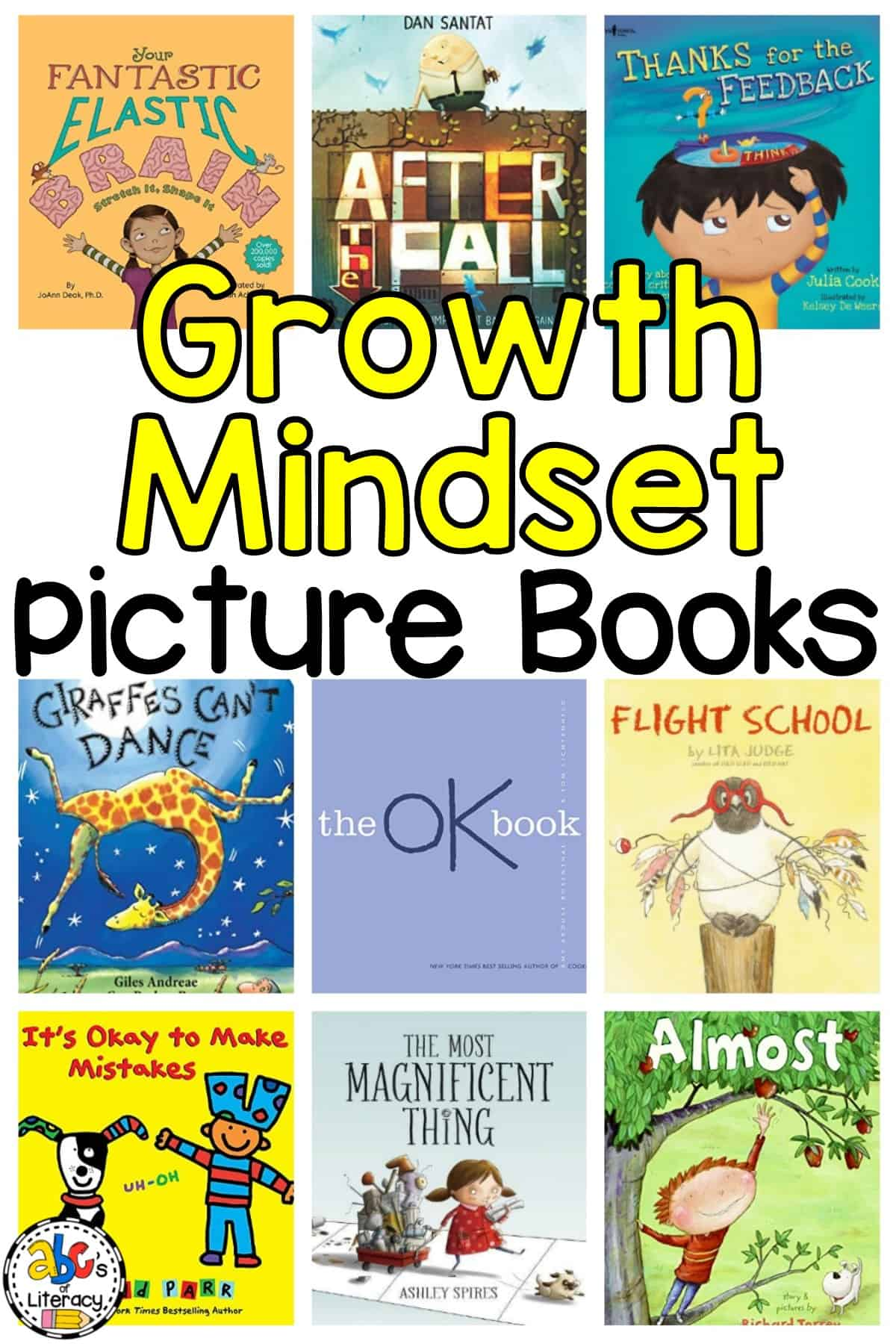 Books To Teach Growth Mindset, Growth Mindset Picture Books, Growth Mindset Read Aloud Books, The Power Of Yet Books