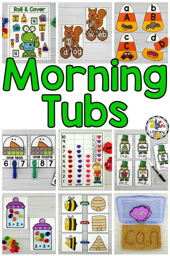 Morning Tubs, Morning Tub Activities, Morning Work Alternatives, Morning Bins, Morning Tubs For The Year
