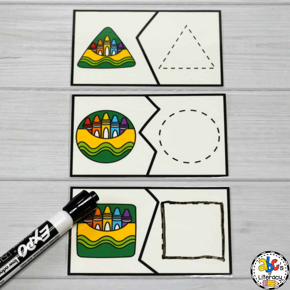 Crayon Box Shape Puzzles