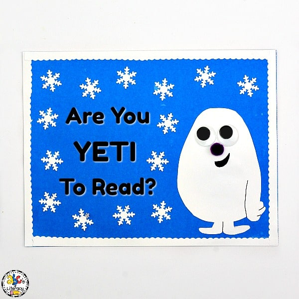 """""""Are You Yeti To Read?"""" bulletin board inspired by The Thing About Yetis"""