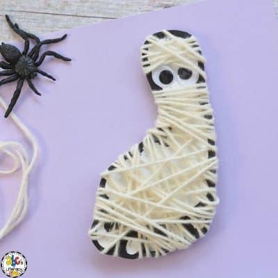 How To Make A Footprint Mummy Craft