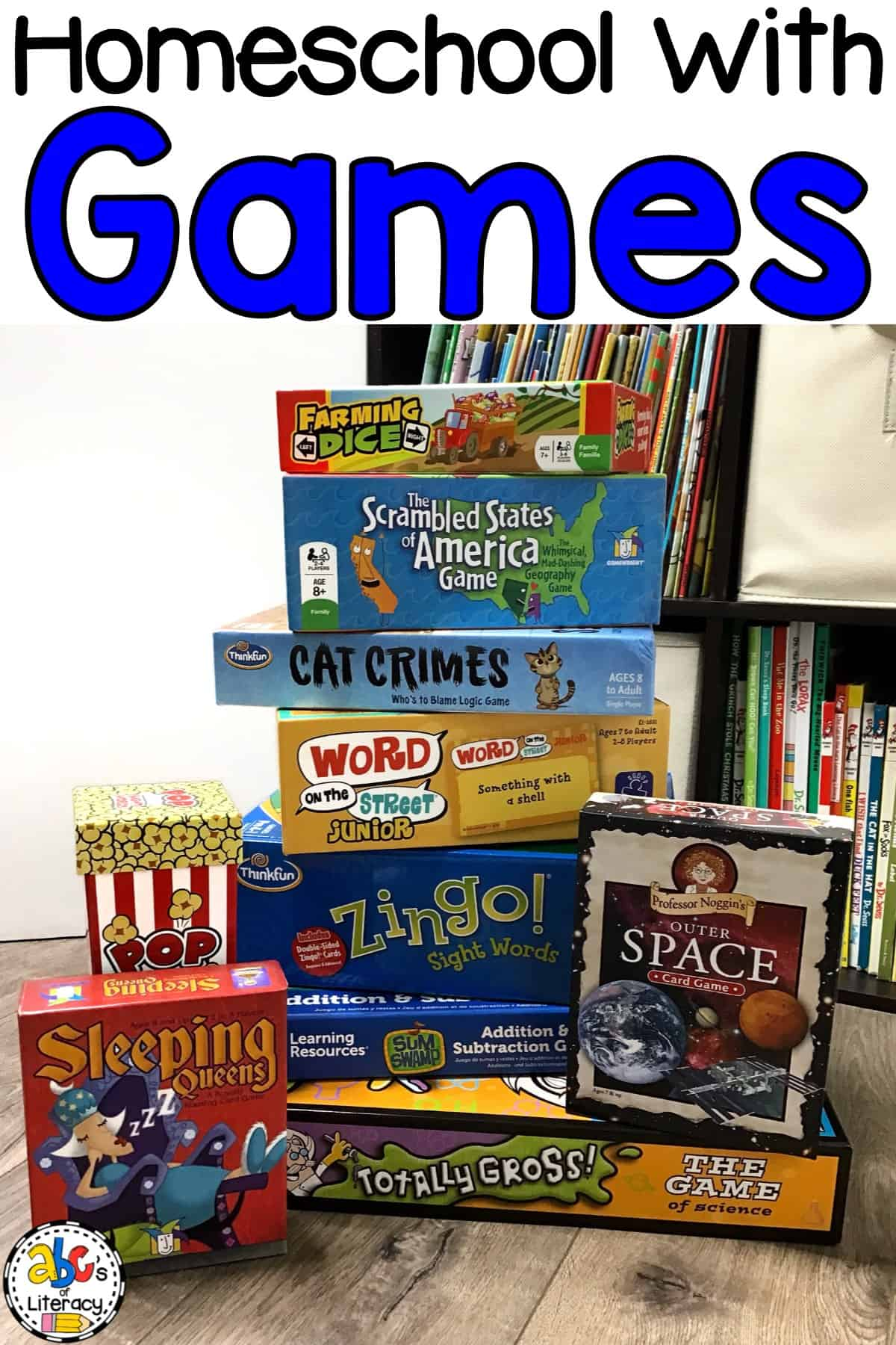 Do you want your homeschool day to be fun and games? Your kids can learn by playing games! Gameschooling is using games to teach your children.