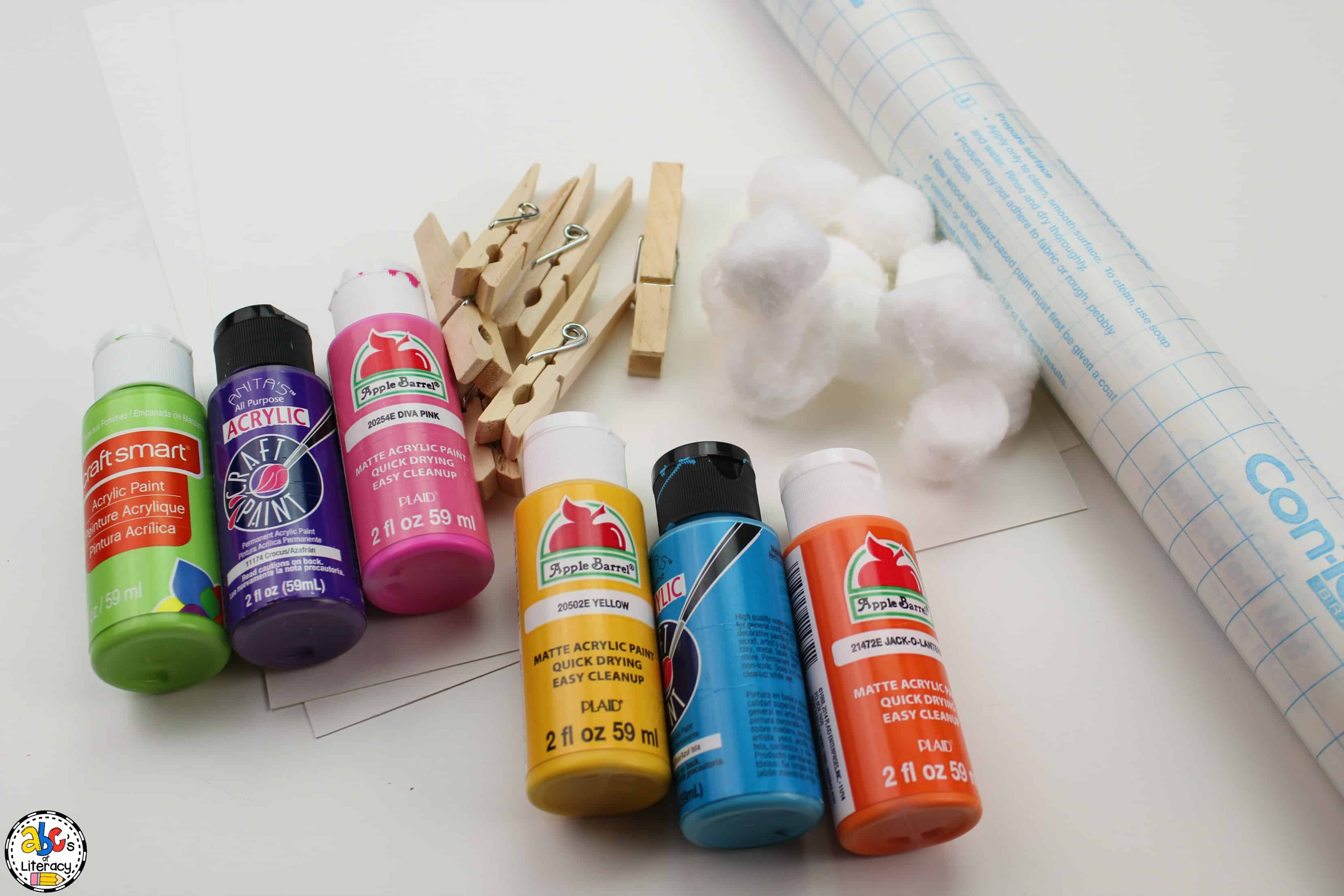 paint colors to use for cotton ball painting