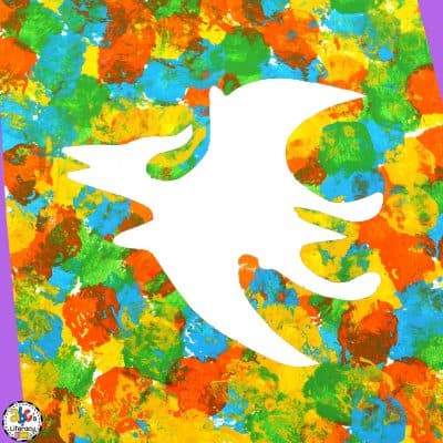 How To Make A Cotton Ball Dinosaur Painting