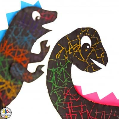 How To Make Dinosaur Scratch Art Project