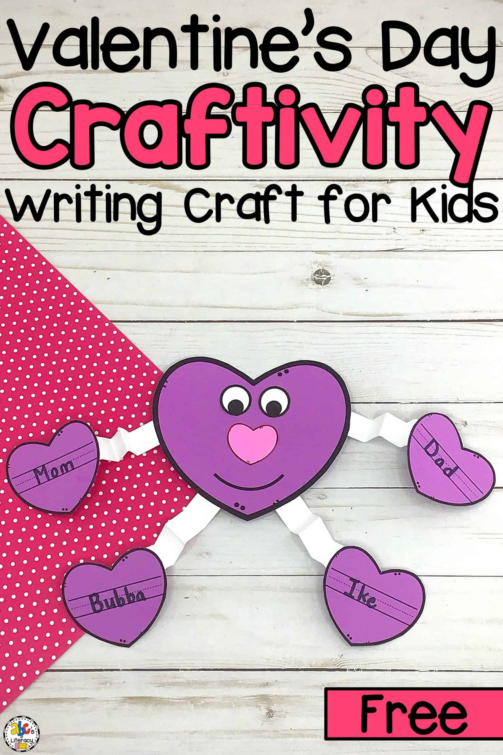 Valentine's Day Heart Craft and Writing Activity: Printable Templates Included