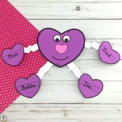 Valentine's Day Heart Craft For Kids