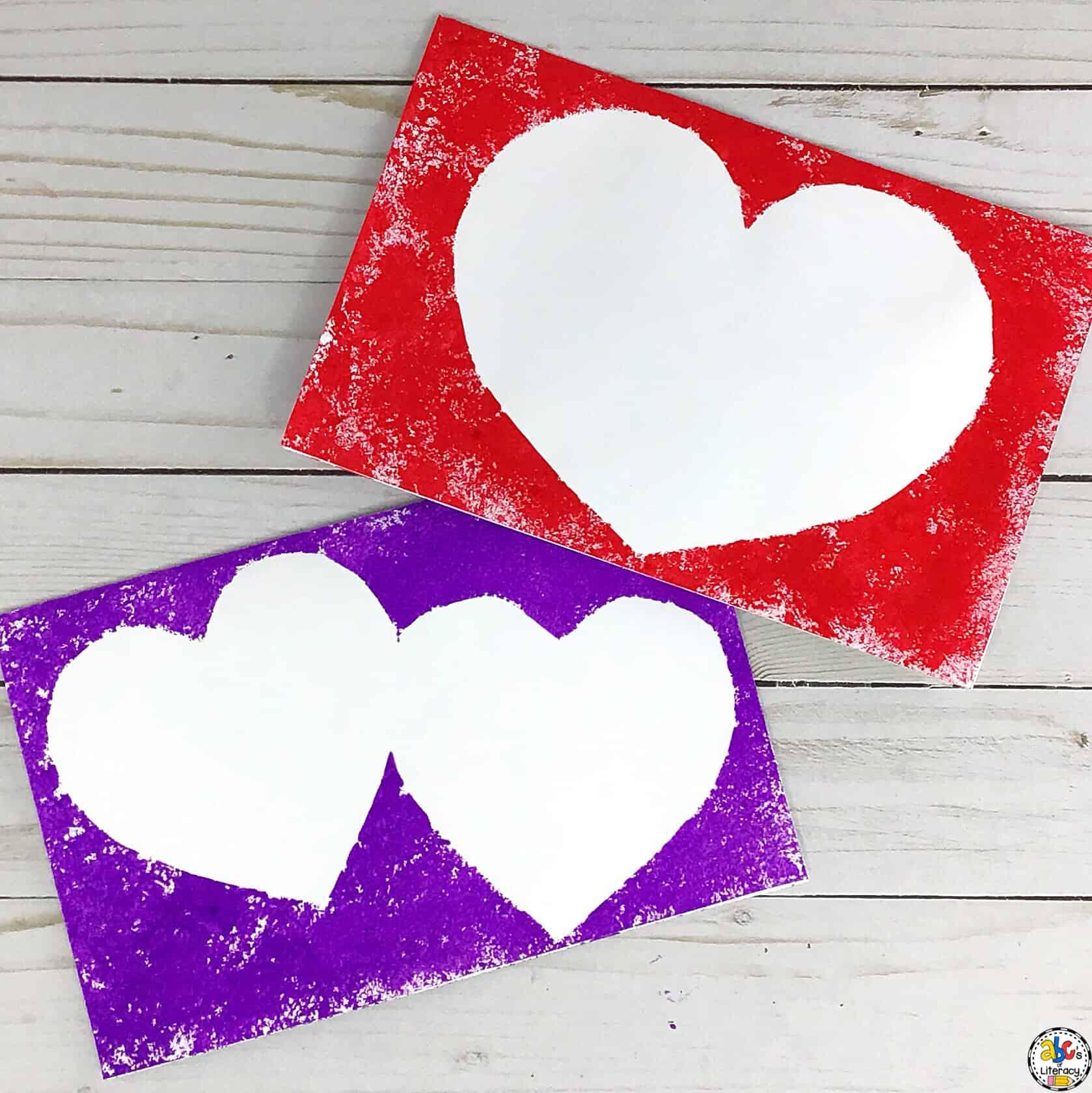 Stamped Heart Valentine's Day Card Craft