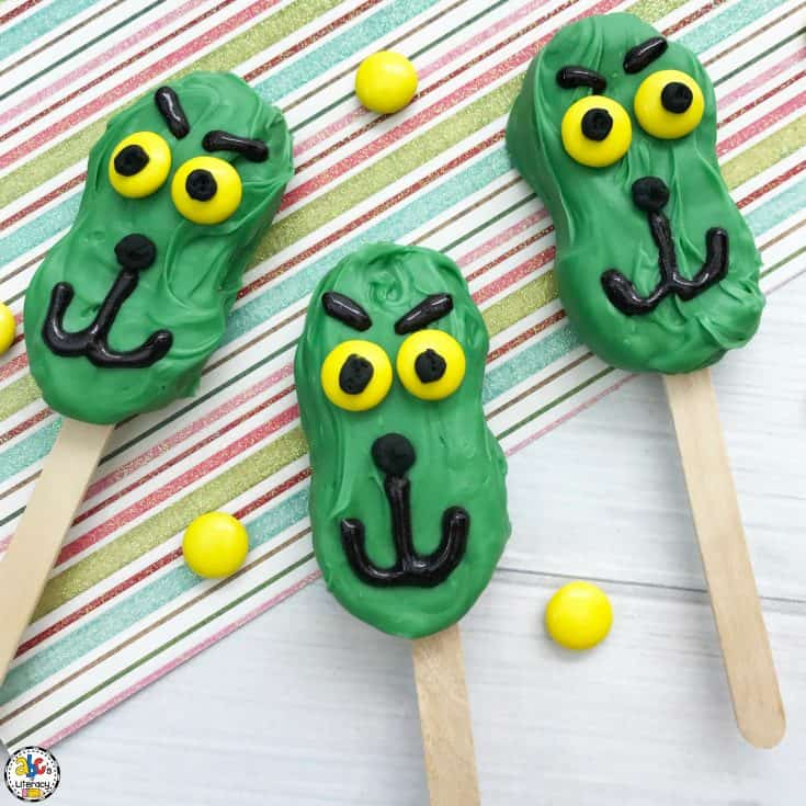 Grinch Cookie Pops Tutorial Card