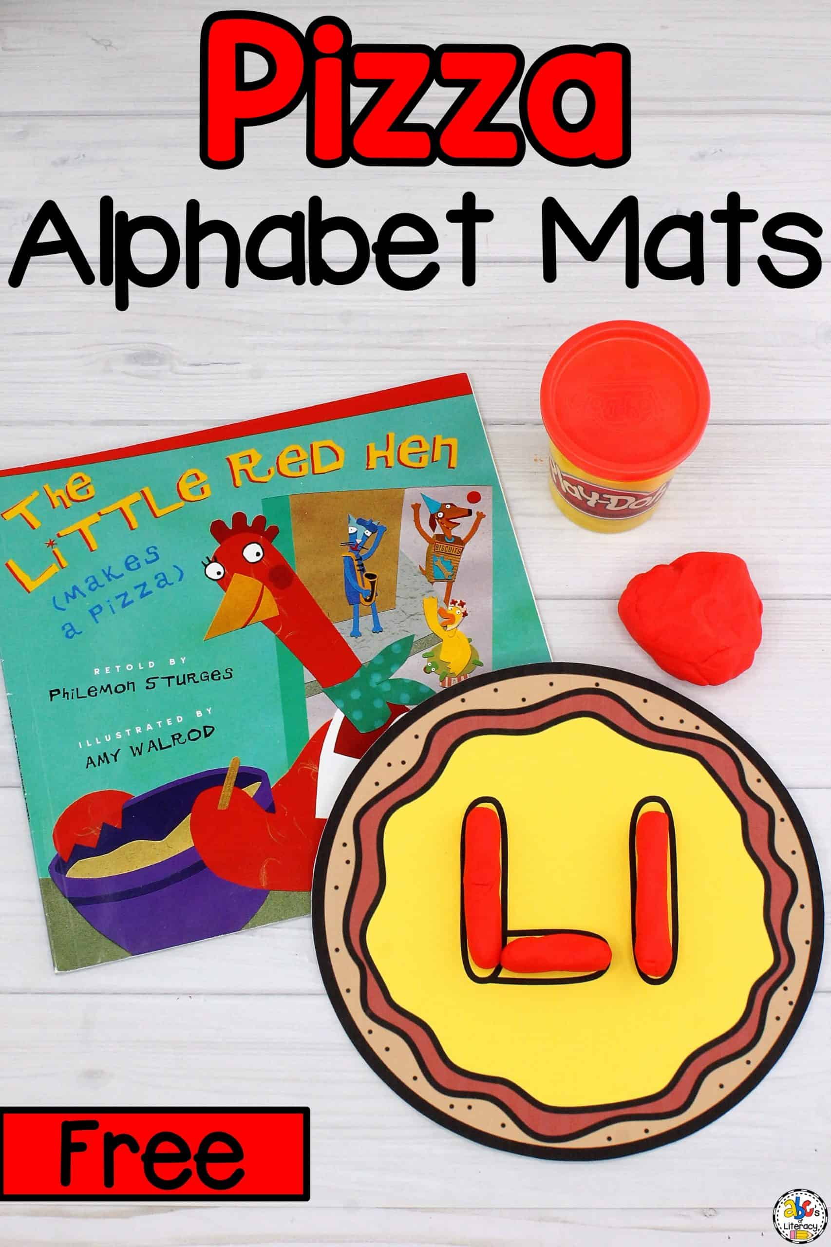 Pizza Alphabet Play Dough Mats
