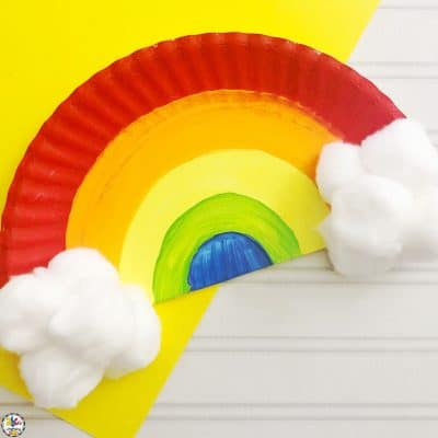 How To Make A Paper Plate Rainbow Craft