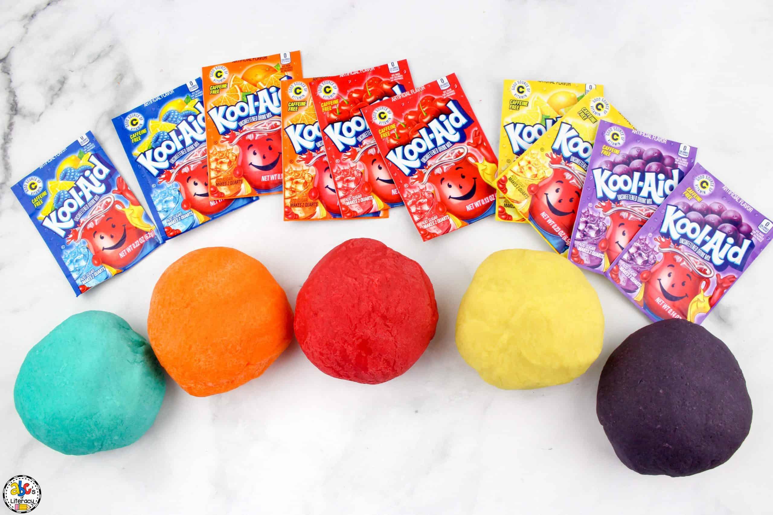 Kool-Aid Play Dough: Sensory Play Activity for Kids