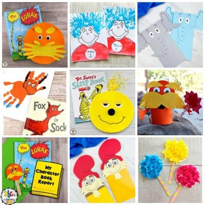 Dr. Seuss Inspired Kid Crafts