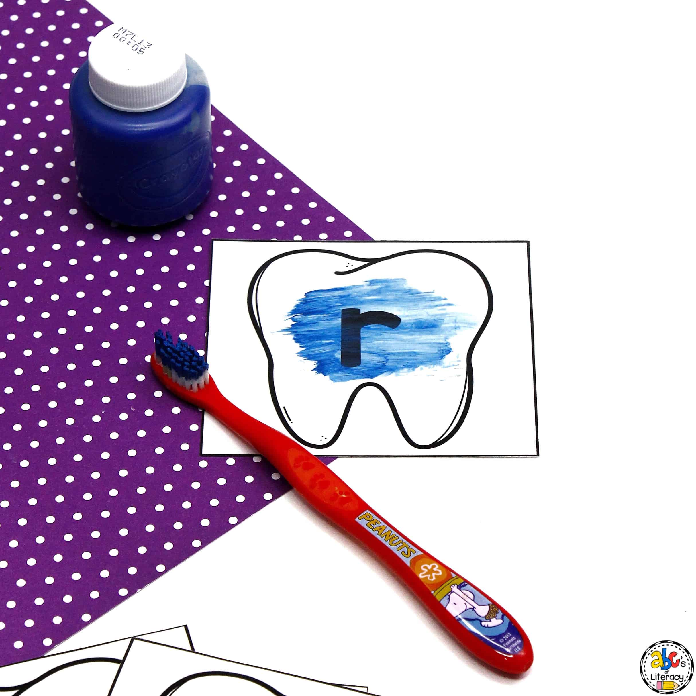 Letter Activity and Teeth Brushing Activity
