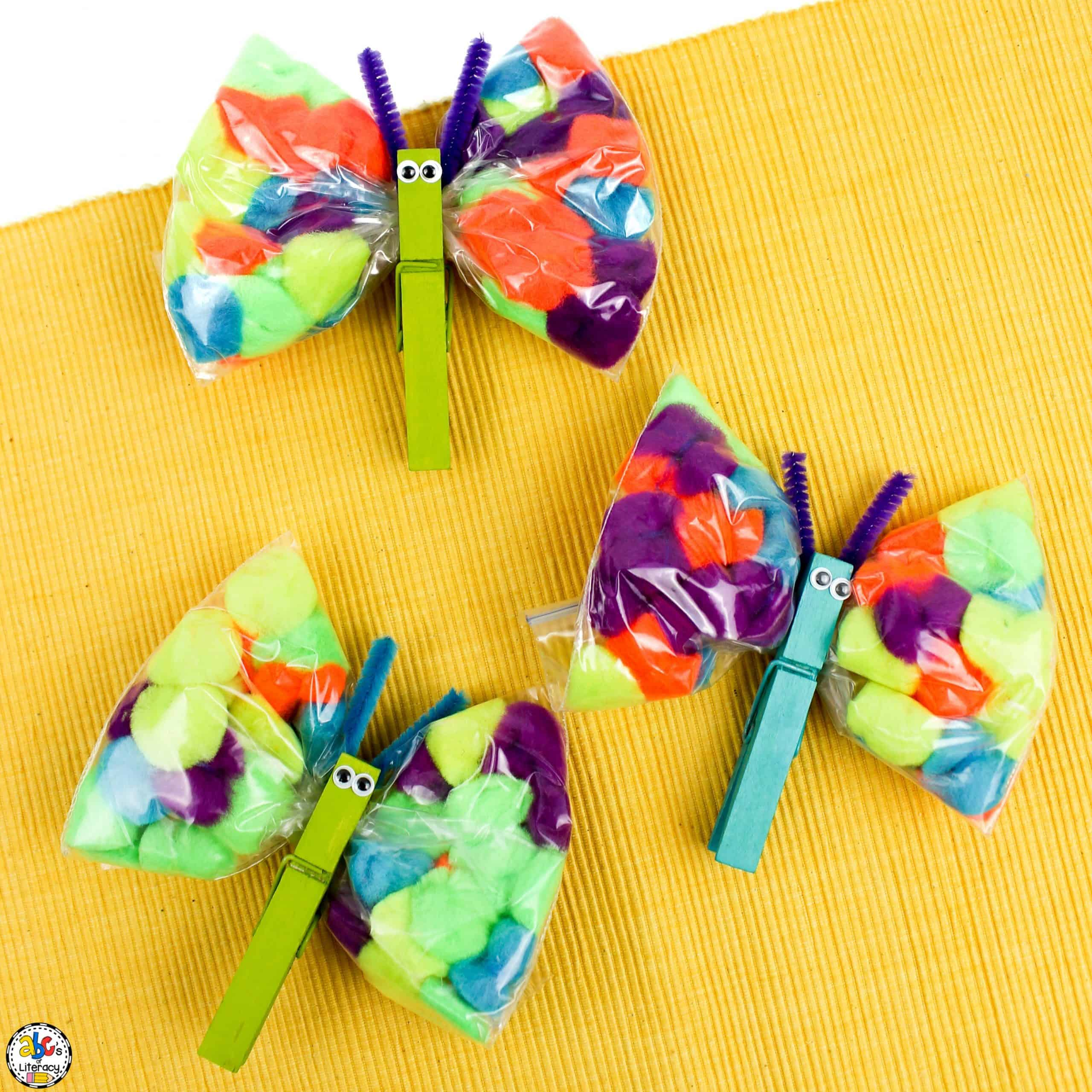 How To Make A Pom Pom Butterfly Craft for Kids
