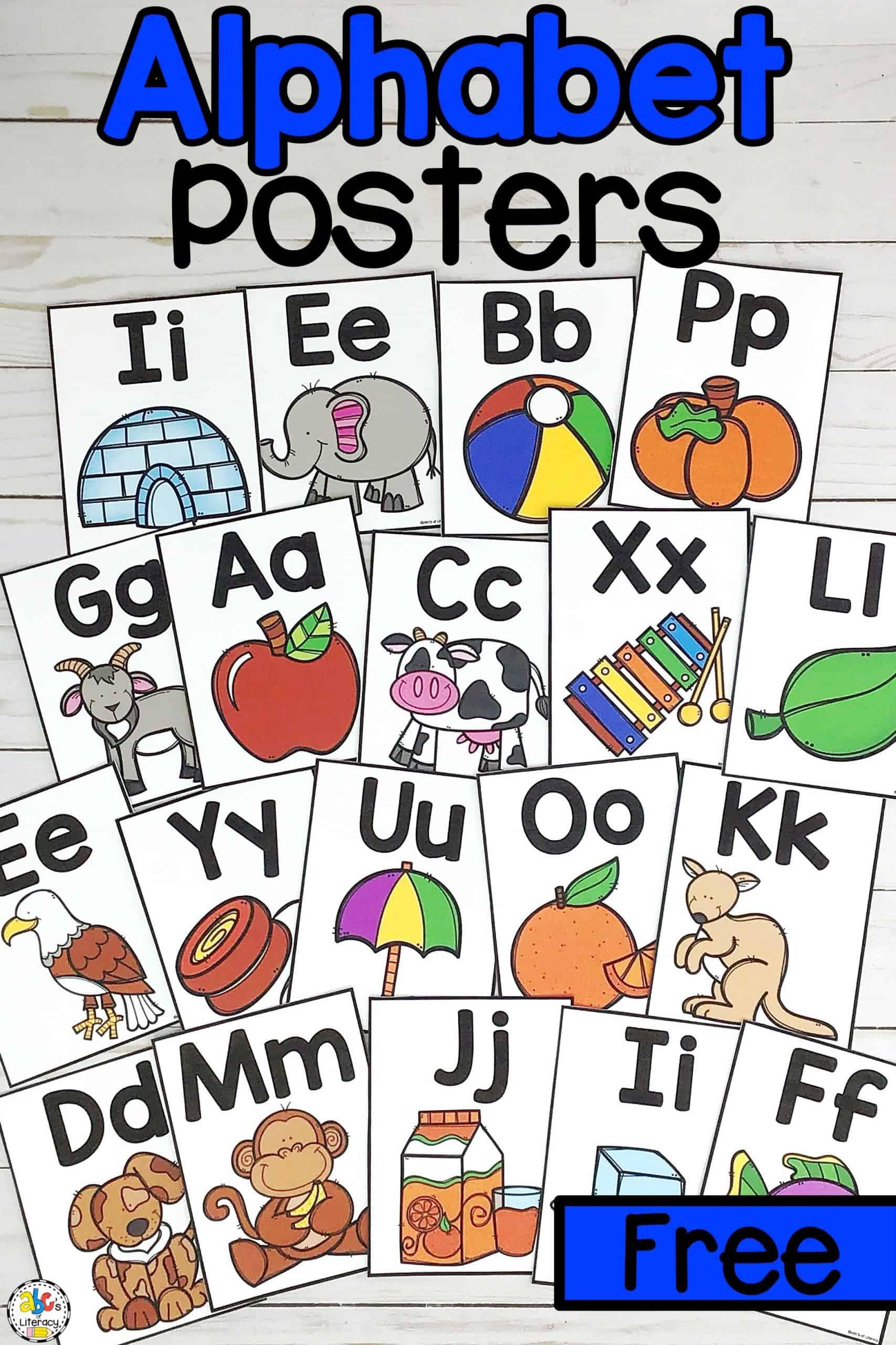 Alphabet Posters: Free Printable