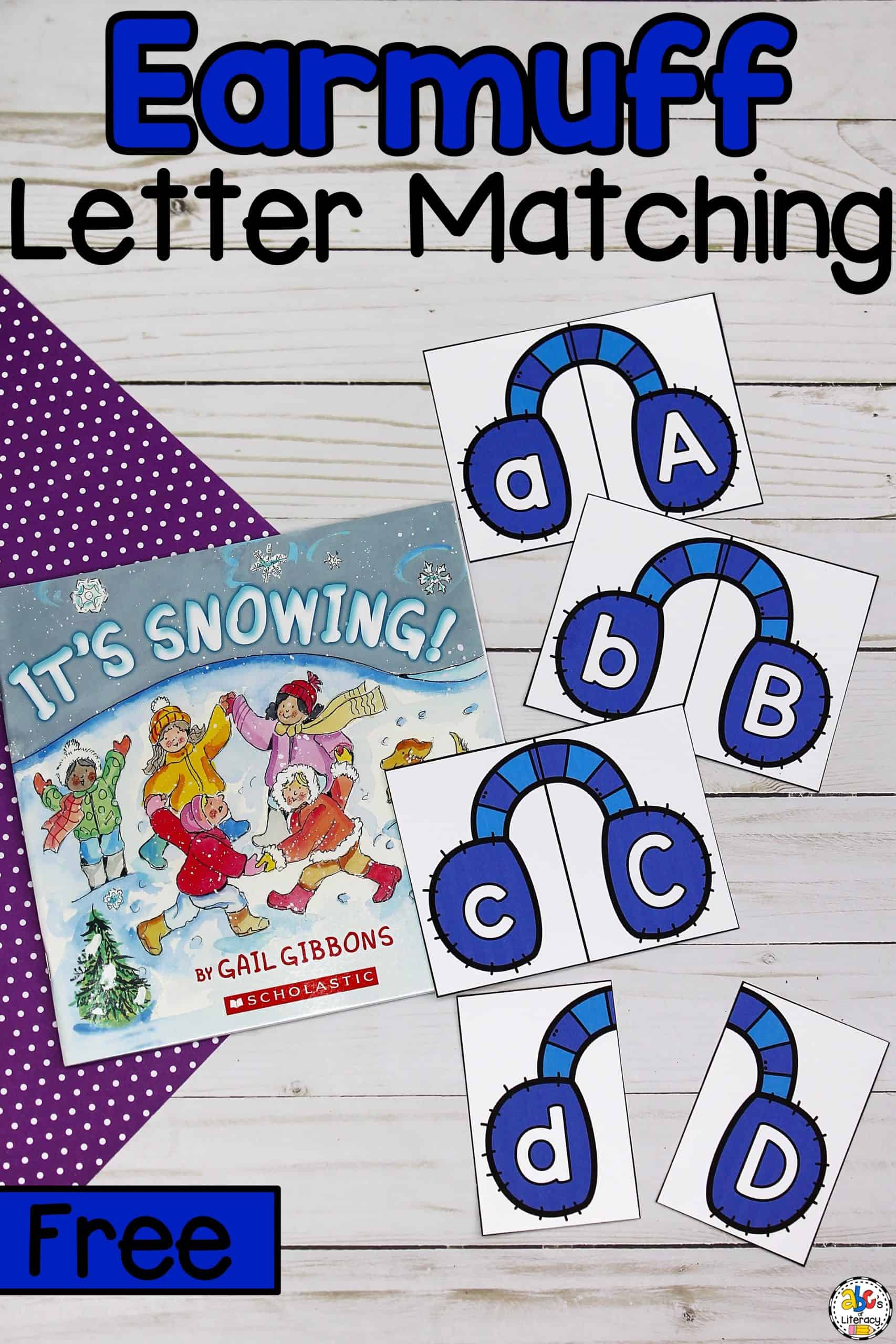 Earmuff Letter Matching Puzzles