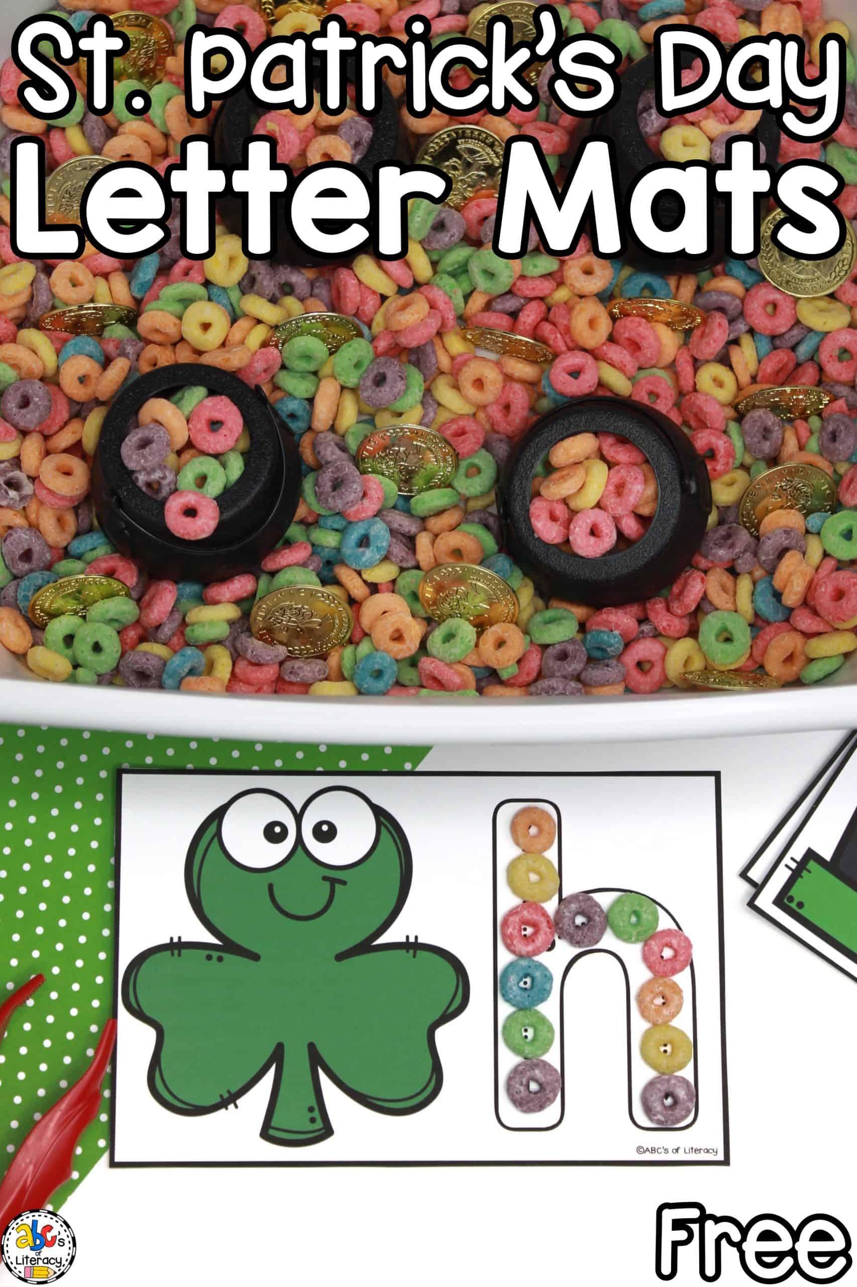 St. Patrick's Day Letter Mats