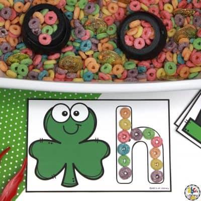 St. Patrick's Day Letter Mats & Sensory Bin