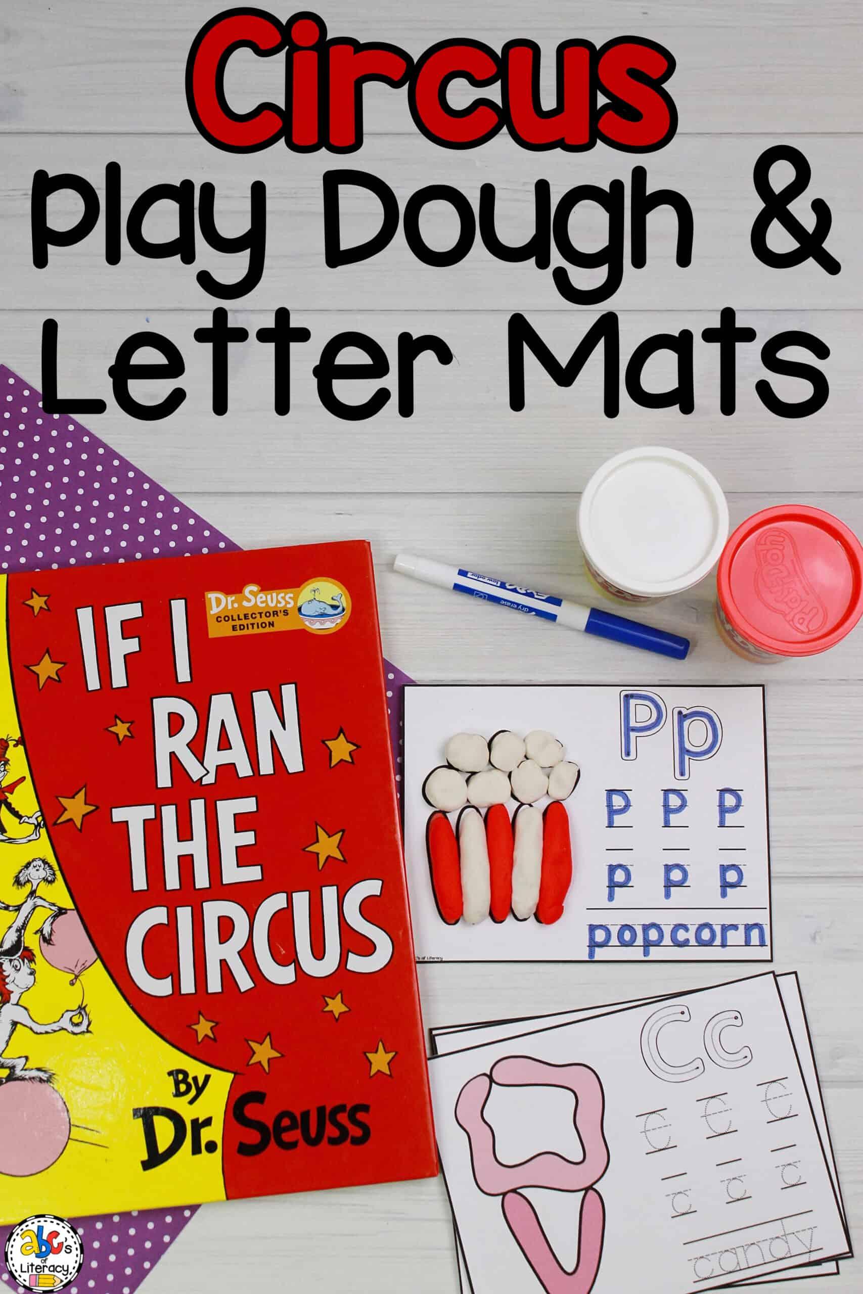 Circus Play Dough & Letter Mats