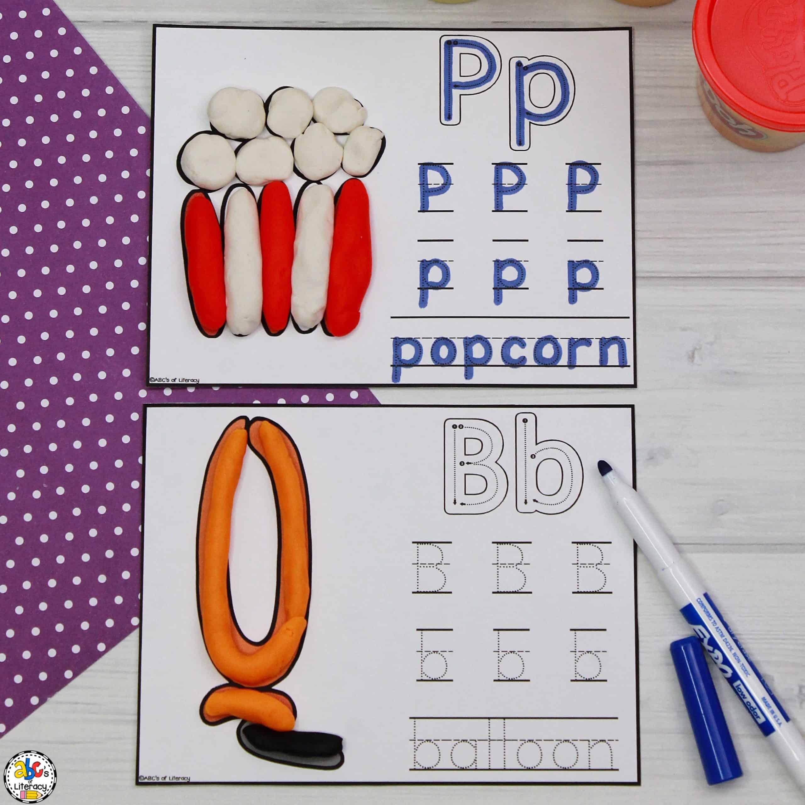 Circus Letter & Play Dough Mats