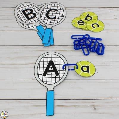 Tennis Racket & Ball Alphabet Match