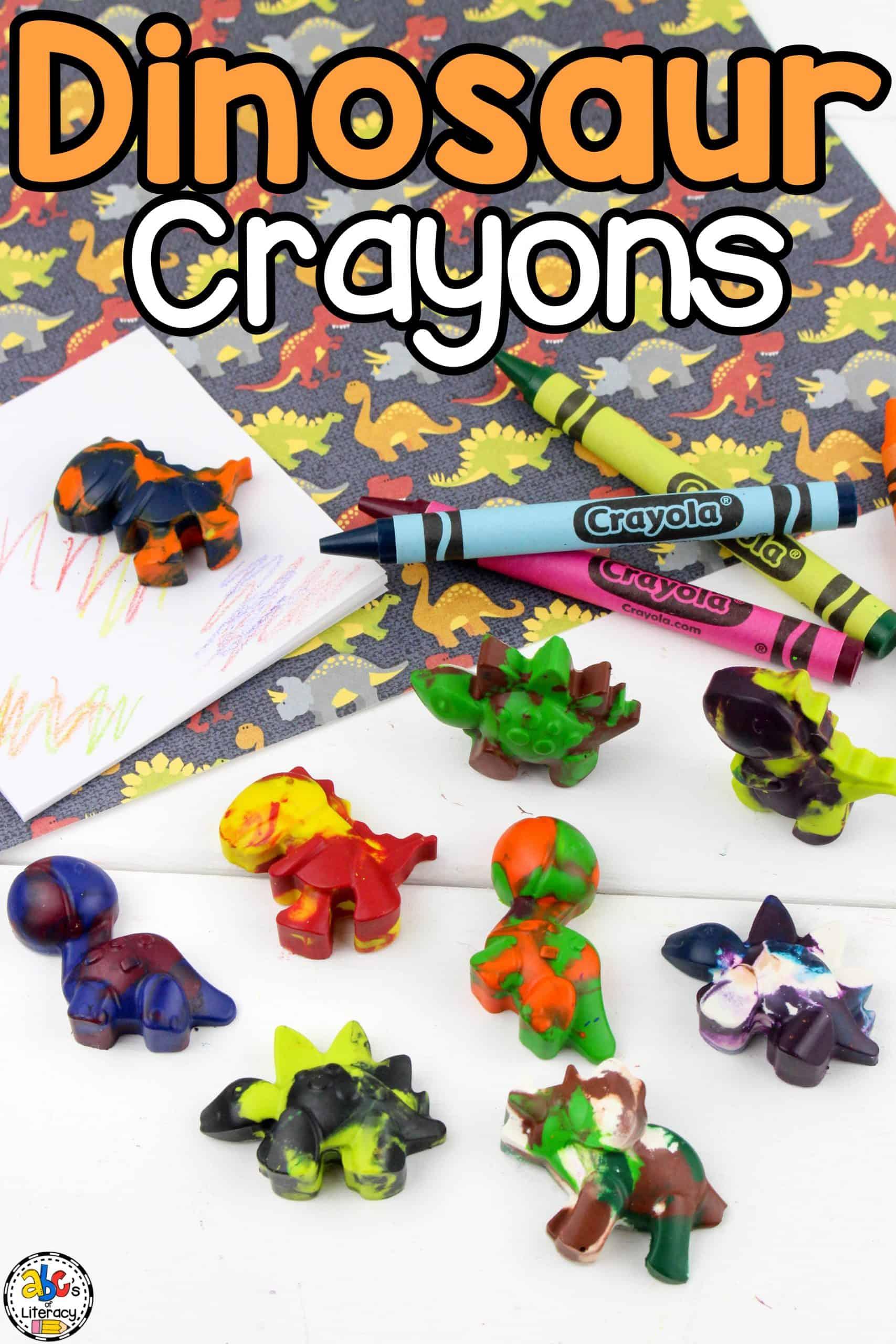 DIY Dinosaur Crayons